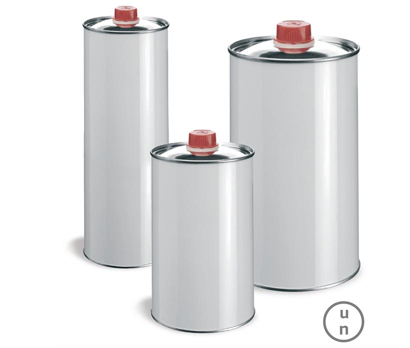 Barattoli cilindrici con tappo in plastica